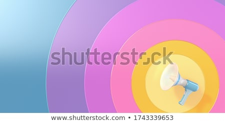 Broadcast Advertising. Pastels Vintage Design Concept. Stock photo © tashatuvango