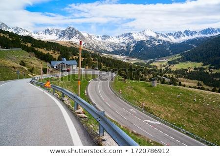 pic · élevé · alpine · route · paysage · montagnes - photo stock © nejron