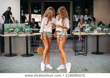 пару · человека · женщину · джинсов · белый - Сток-фото © stryjek