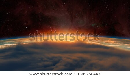 Spektakularny wygaśnięcia jasne złoty chmury niebo Zdjęcia stock © meinzahn