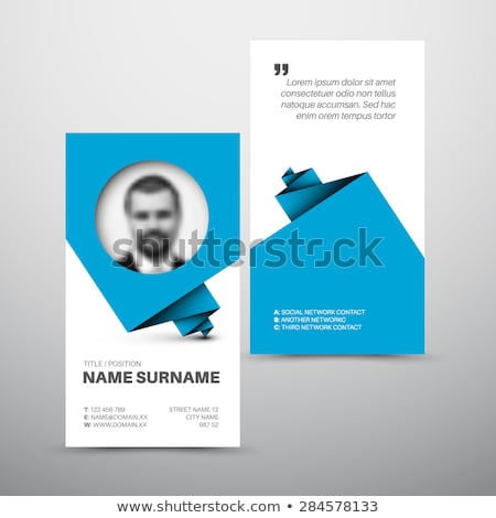 Modern simple blue business card template with user profile Stock photo © orson