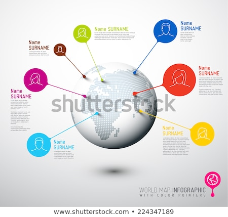 World map globe with user pointer marks Stock photo © orson