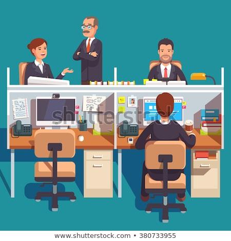Desktop рабочая станция красочный месте бизнеса книга Сток-фото © tracer