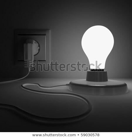 lamba · elektrik · fiş · karanlık · yer · soyut - stok fotoğraf © Serp