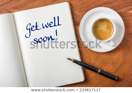 Notebook asztal kút hamarosan üzlet papír Stock fotó © Zerbor