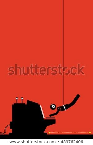 agente · revólver · pistola · oscuro · 1950 - foto stock © stokkete