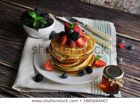 pancake and berry stock photo © m-studio