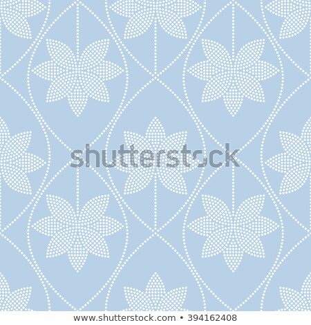 golvend · patroon · lotus · witte · Blauw · druppels - stockfoto © tanya_ivanchuk