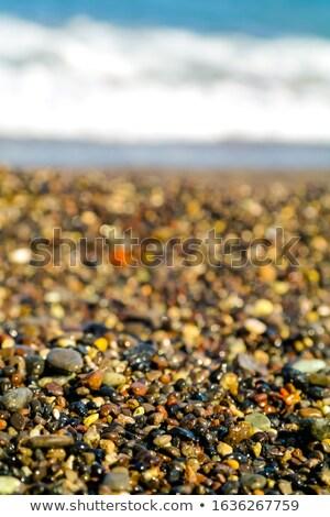 Nat rotsen zandstrand strand water natuur Stockfoto © chrisga