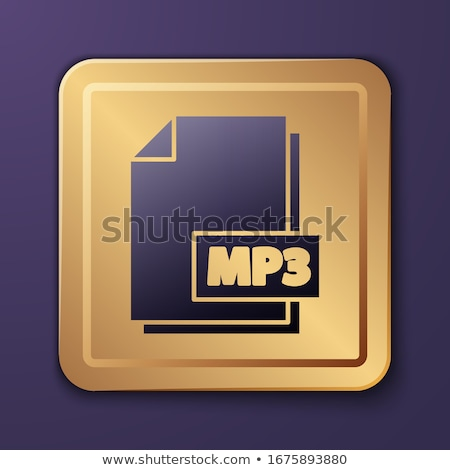 Mp3 скачать Purple вектора икона кнопки Сток-фото © rizwanali3d