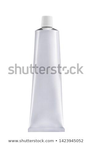 Geïsoleerd witte buis tandpasta plastic cap Stockfoto © AndreyPopov