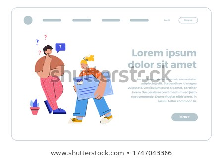 Flat stylized webpage Stock photo © Anna_leni