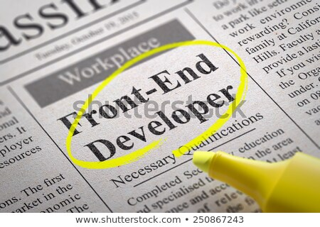 Stock photo: Front-End Developer  Vacancy in Newspaper.