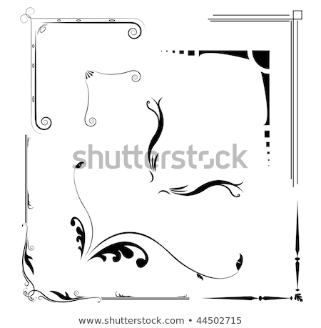 Set of original corner ornaments vector illustration © Mr ...