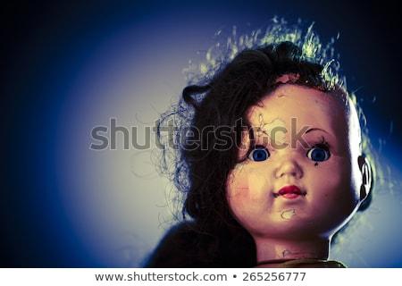 head of beatiful scary doll like from horror movie Stock photo © jarin13