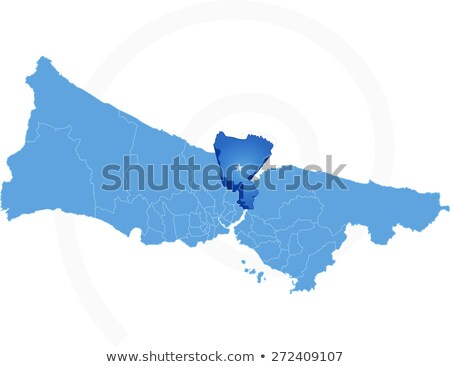 Istanbul Map with administrative districts where Sariyer is pull Stock photo © Istanbul2009