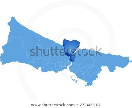 Стамбуле карта административный вектора изображение Сток-фото © Istanbul2009