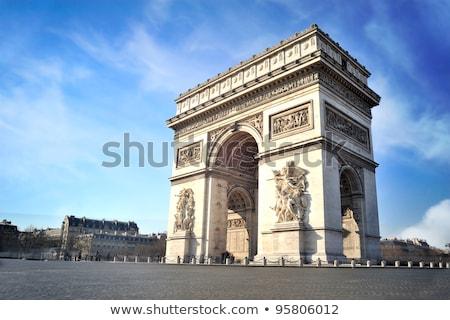 Arc triomphe Paris voiture bâtiment rue Photo stock © smartin69