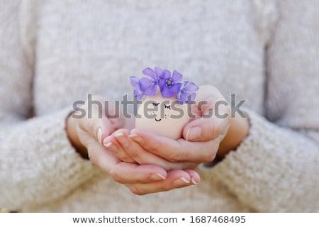 Imagination femme couronne fleurs fille mode Photo stock © gromovataya