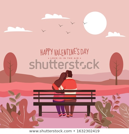 Couple on a bench  Stock photo © digoarpi