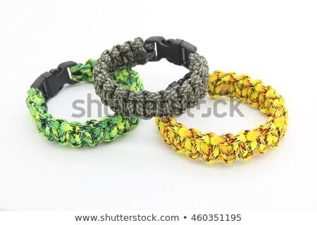 шнура · выживание · браслет · белый · кабеля · парашютом - Сток-фото © dezign56