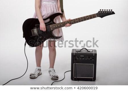 девочек ног рук электрической гитаре красивой молодые Сток-фото © master1305
