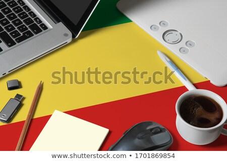 Tablet cumhuriyet Kongo bayrak görüntü render Stok fotoğraf © tang90246