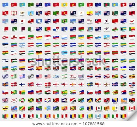 Franciaország Szudán zászlók puzzle izolált fehér Stock fotó © Istanbul2009