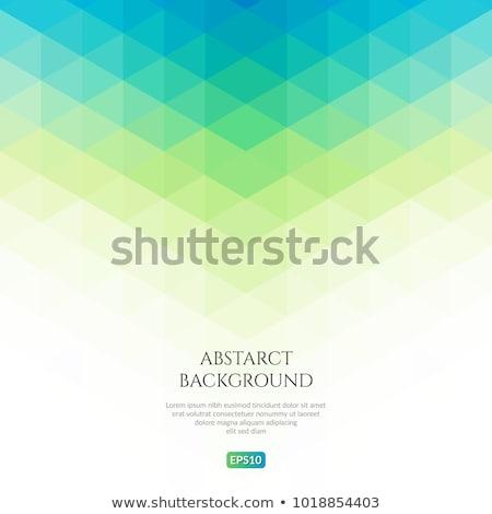 Abstract Blauw groene meetkundig vector kubus Stockfoto © beaubelle