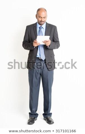 ビジネスマン · 笑みを浮かべて · あごひげを生やした · スーツ - ストックフォト © szefei