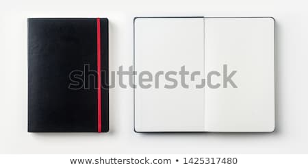 Open notebook with stationaries Stock photo © hfng