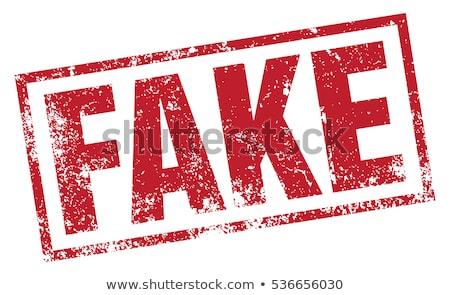 Fake Stempel isoliert weiß Kommunikation post Stock foto © fuzzbones0