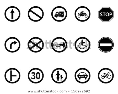 Handicap shape on road sign Stock photo © fuzzbones0