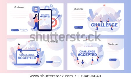 Big SET of Flat Style Design Concepts for business strategy and career Stock photo © DavidArts