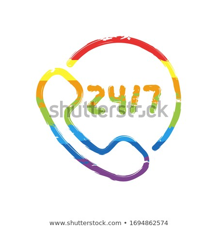 24 línea de ayuda violeta vector icono diseno Foto stock © rizwanali3d