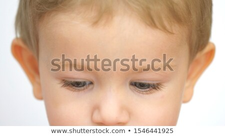 Young boy looking serious portrait Stock photo © ajfilgud