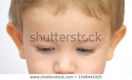 fiú · néz · kilátás · fiatal · srác · kopasz · távcső - stock fotó © ajfilgud