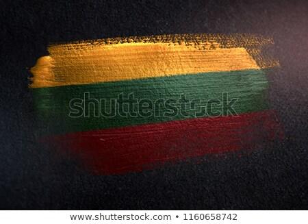 Lituânia país bandeira mapa forma texto Foto stock © tony4urban
