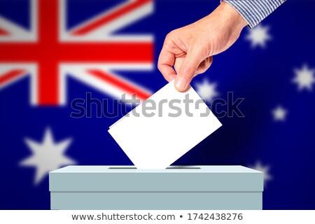 男 投票 投票 ボックス オーストラリア パーティ ストックフォト © Zerbor