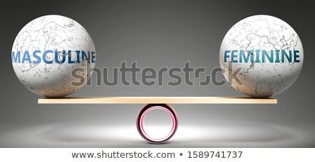 男性 フェミニン シンボル 孤立した 白 セックス ストックフォト © limbi007