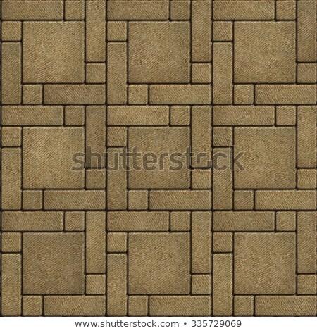 sand color paving slabs in the form of big square stock photo © tashatuvango