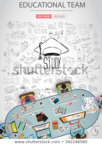 educational and learning concept with doodle design style teaching solution stock photo © davidarts