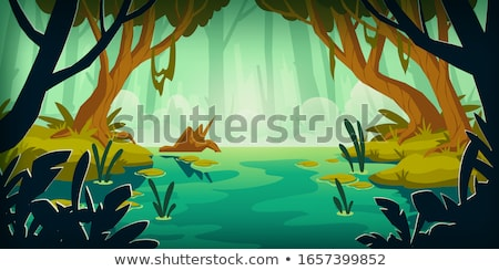 marécage · stylisé · arbre · forêt · nature - photo stock © tracer