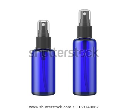 bottle of blue plastic cleaner stock photo © shutswis