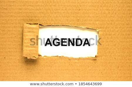 Agenda Torn Paper Concept Stock photo © ivelin