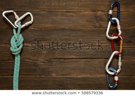 Blue Carabiner with Text Extreme. Stock photo © tashatuvango