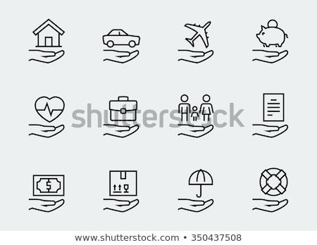 House insurance line icon. Stock photo © RAStudio