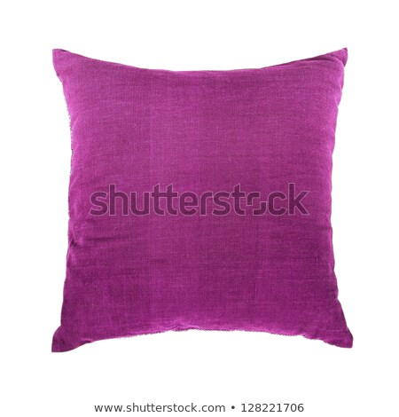 bright purple pillow isolated on white stock photo © shutswis