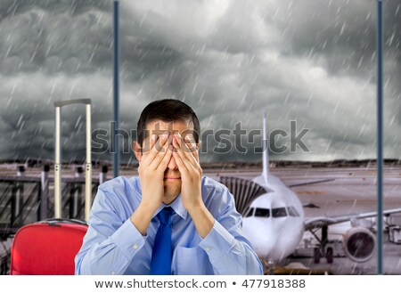 Photo stock: Cancelled Flight At Bad Weather