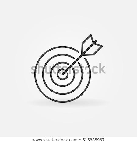 célkereszt · cél · vékony · vonal · ikon · háló - stock fotó © rastudio